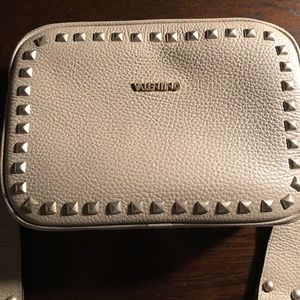 Valentino Mia Studded Pebbled Leather Crossbody
